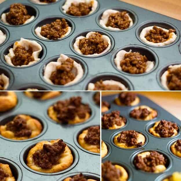 barbecue biscuits baked in muffin tin