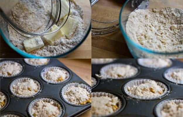 streusel topping on muffins
