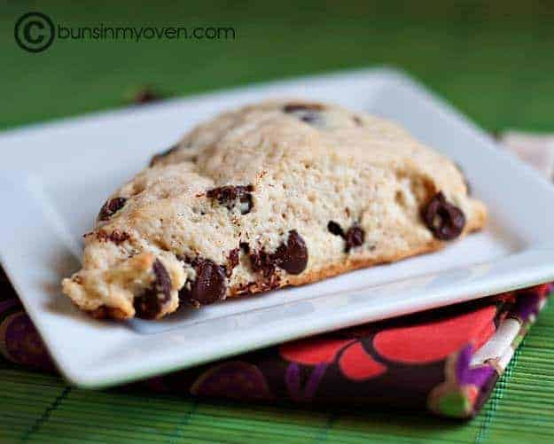 These chocolate chip scones are one of my favorite snacks. They're simple to make and always a hit!
