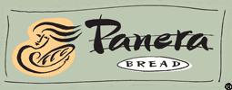 A close up of a Panera logo