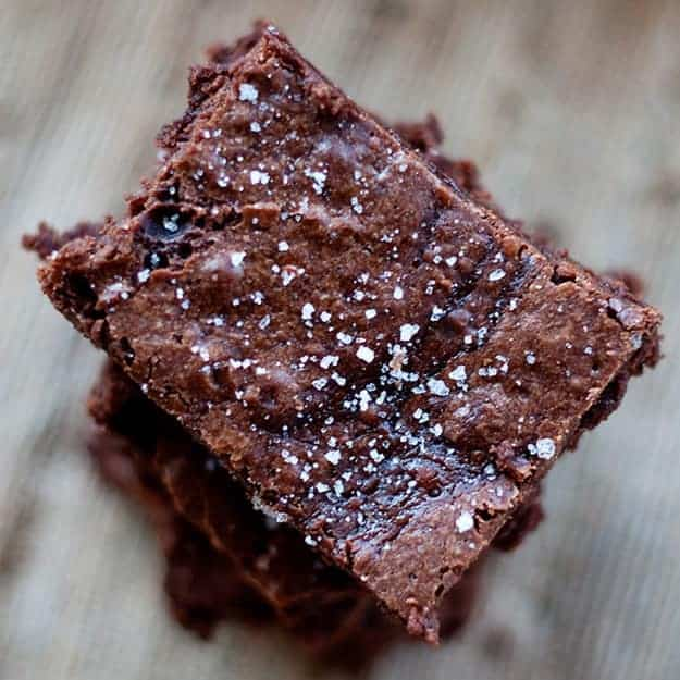 The chocolate fudge and salt in this brownie recipe are to die for.