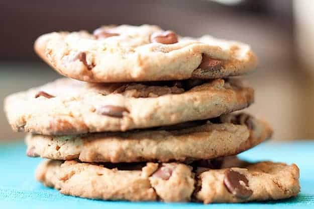 Not your momma's peanut butter chocolate chip cookies. I stuffed these with mini candy bars!