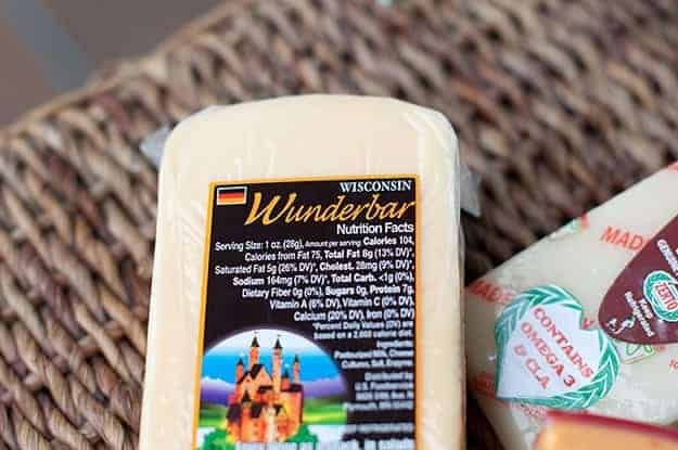 A package of wunderbar cheese