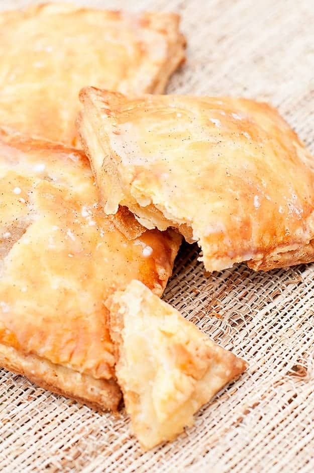 Homemade pop tarts are so freaking good with this apple pie filling!