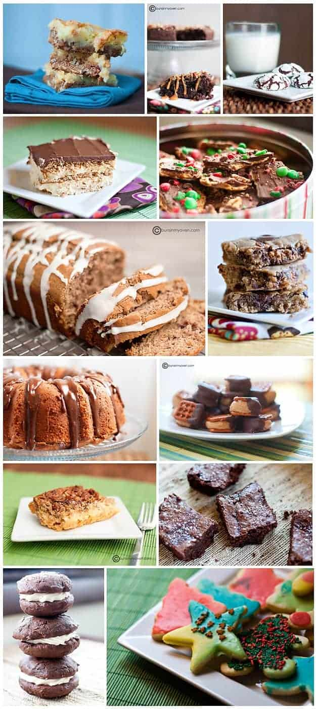 A photo collage of various dessert recipes