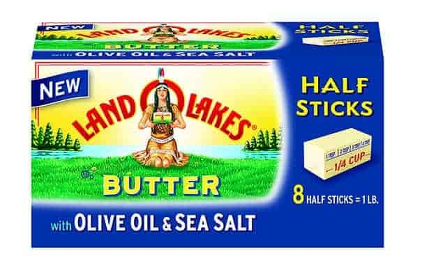 A closeup of Land O\'Lakes butter