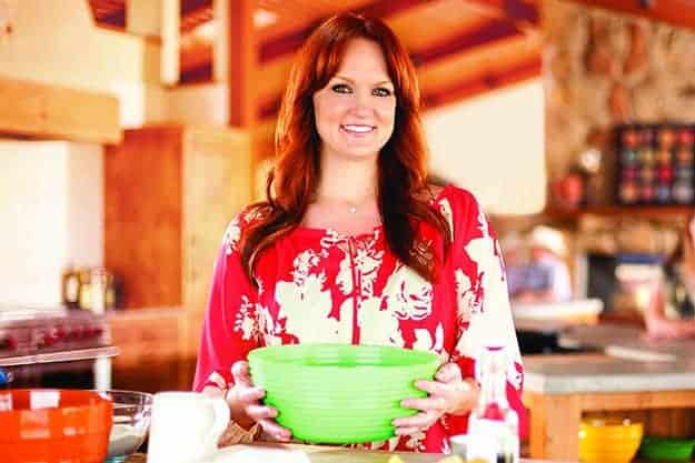 Ree Drummond holding a bowl