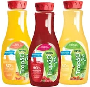 Three bottles of Tropicana